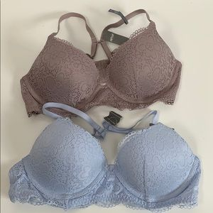 Aerie Pack of 2 Bras 36B adjustable straps NWT